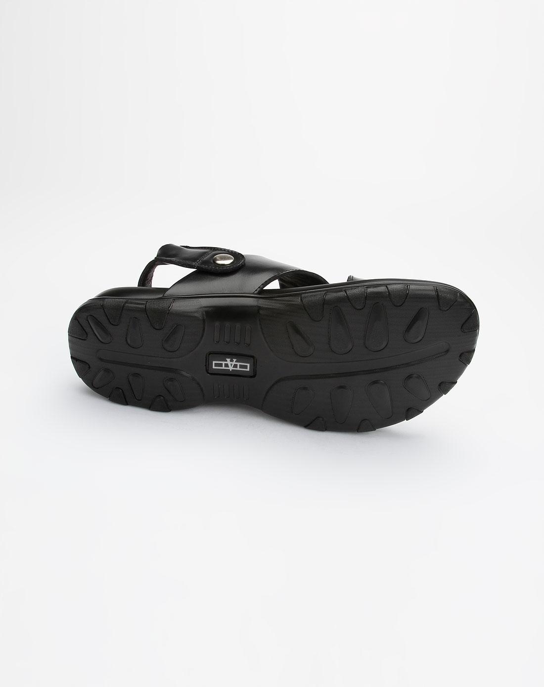coupeau男款黑色两用休闲凉鞋