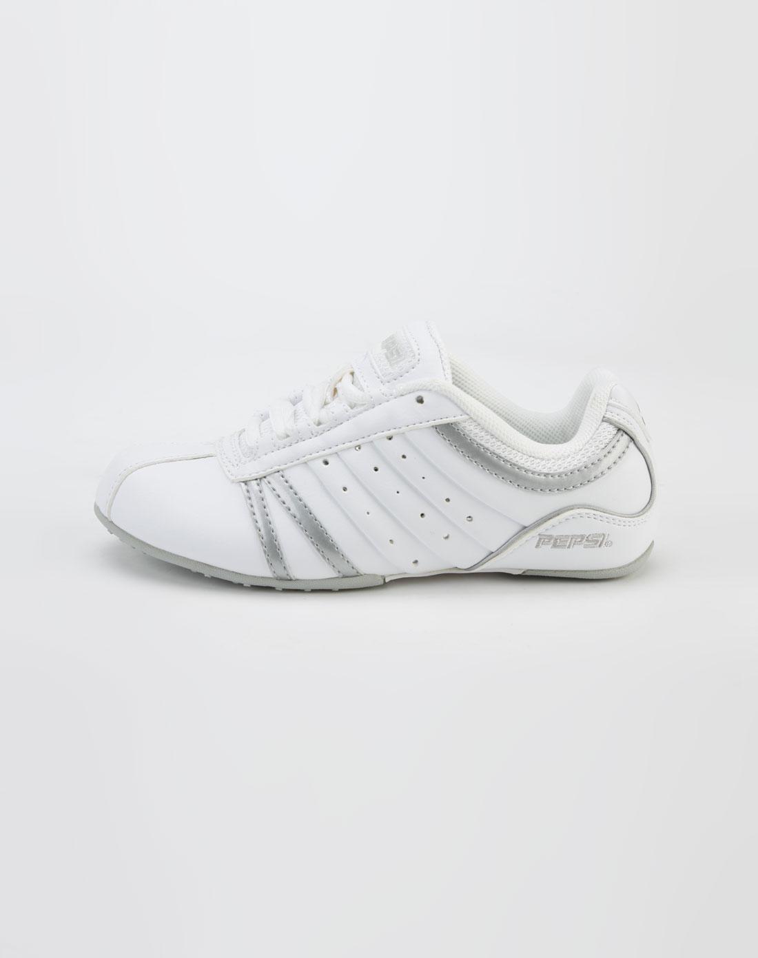 百事pepsi白/银色运动鞋