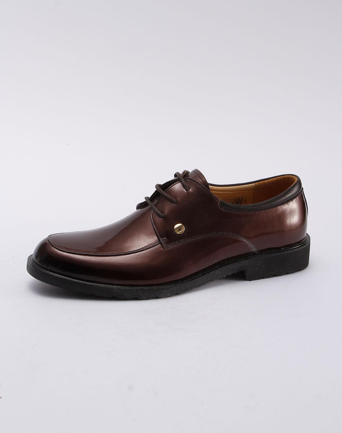 卡帝乐鳄鱼cartelo棕色时尚系带皮鞋10c66021004