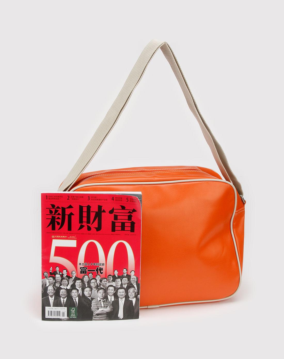彪马puma橙色时尚斜挎包06924503