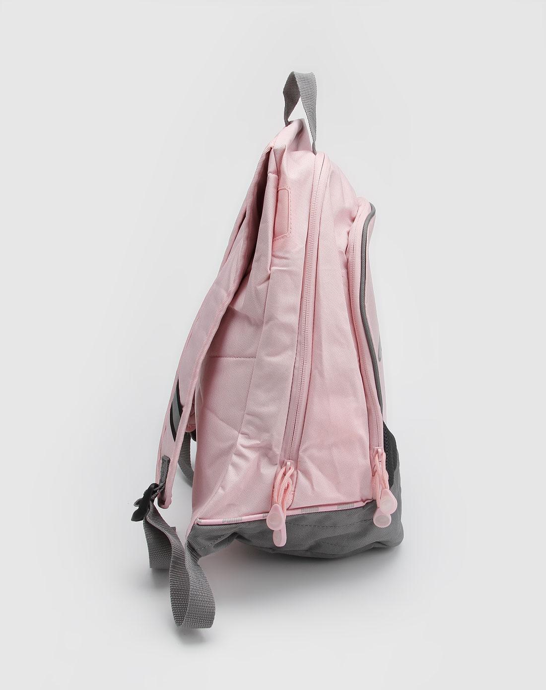 粉红/灰色大logo运动背包