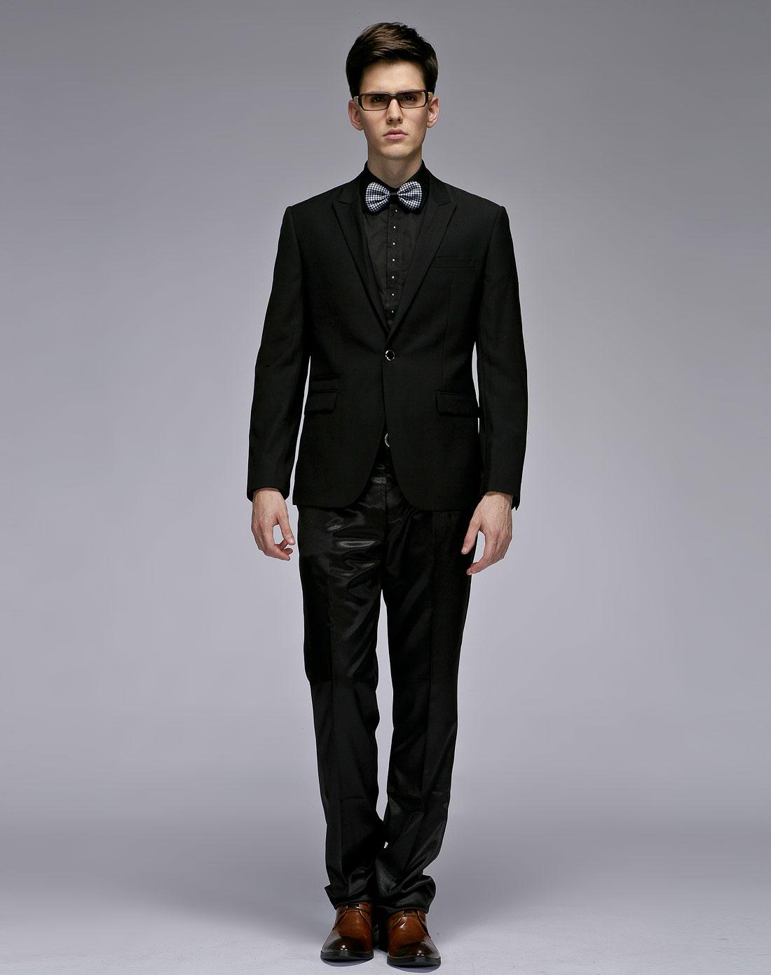1978男装混合专场-gxg 黑色简约时尚长袖西装