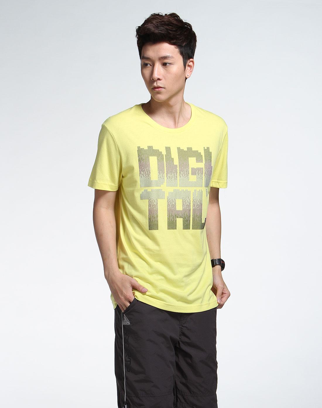 森马男装专场-黄色短袖时尚t恤图片