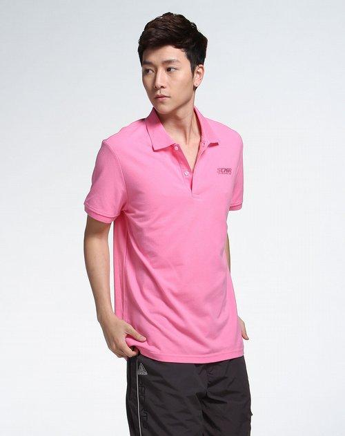 森马男装专场粉红色短袖t恤图片