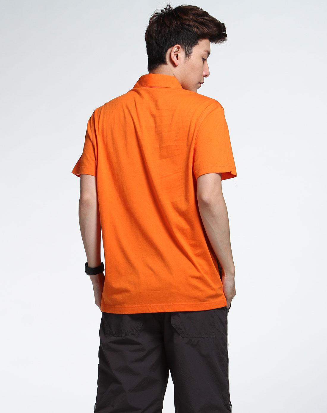 森马橙黄色短袖t恤002151125-311图片