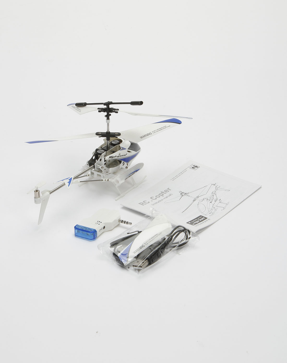 蓝/黑/白色iphone遥控直升飞机