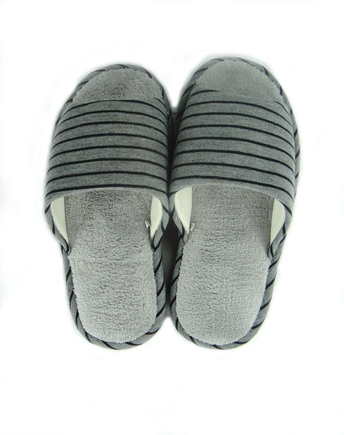 款深咖/灰色休闲阁竹拖鞋