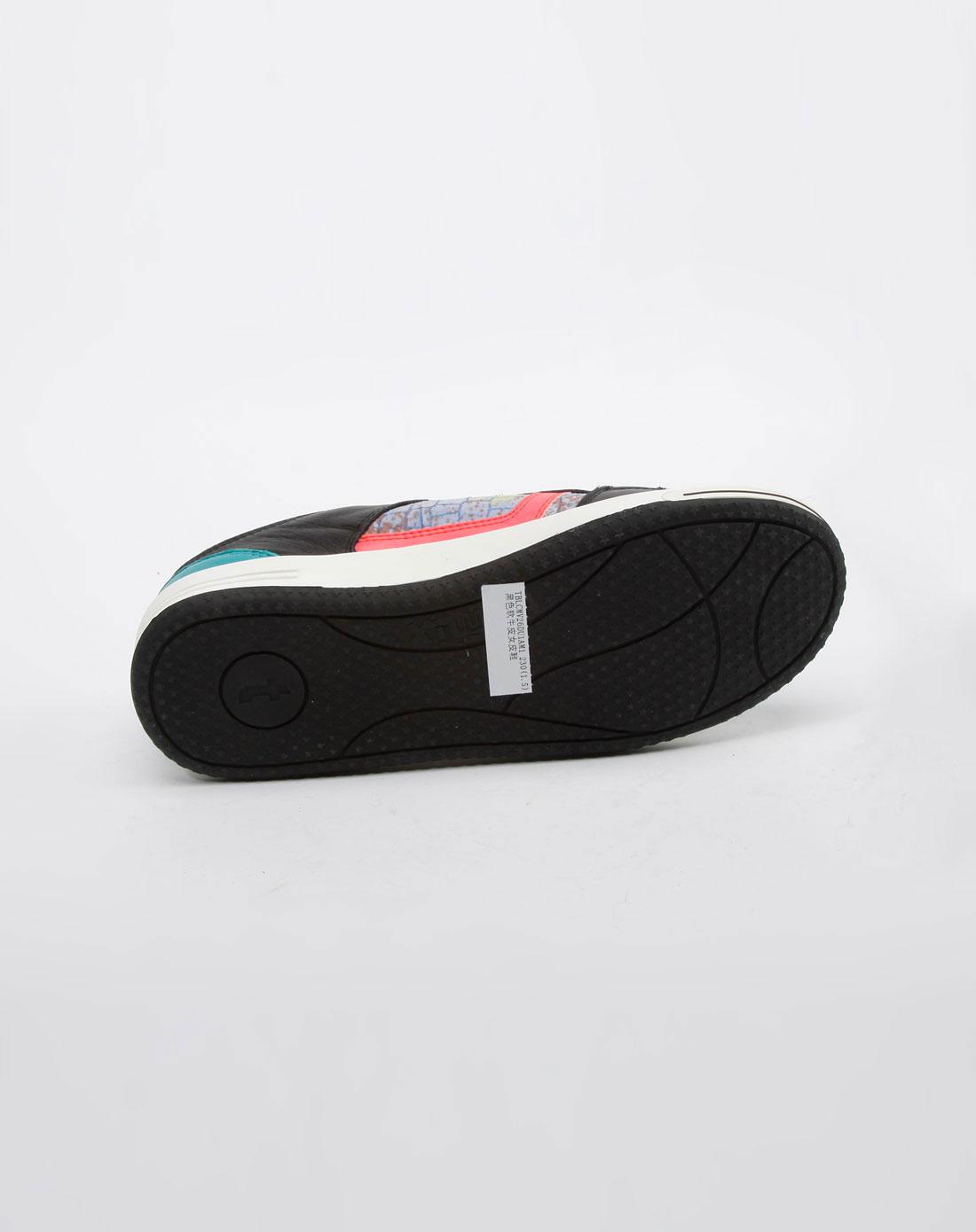 天美意teenmix女款黑/暗绿色休闲运动鞋
