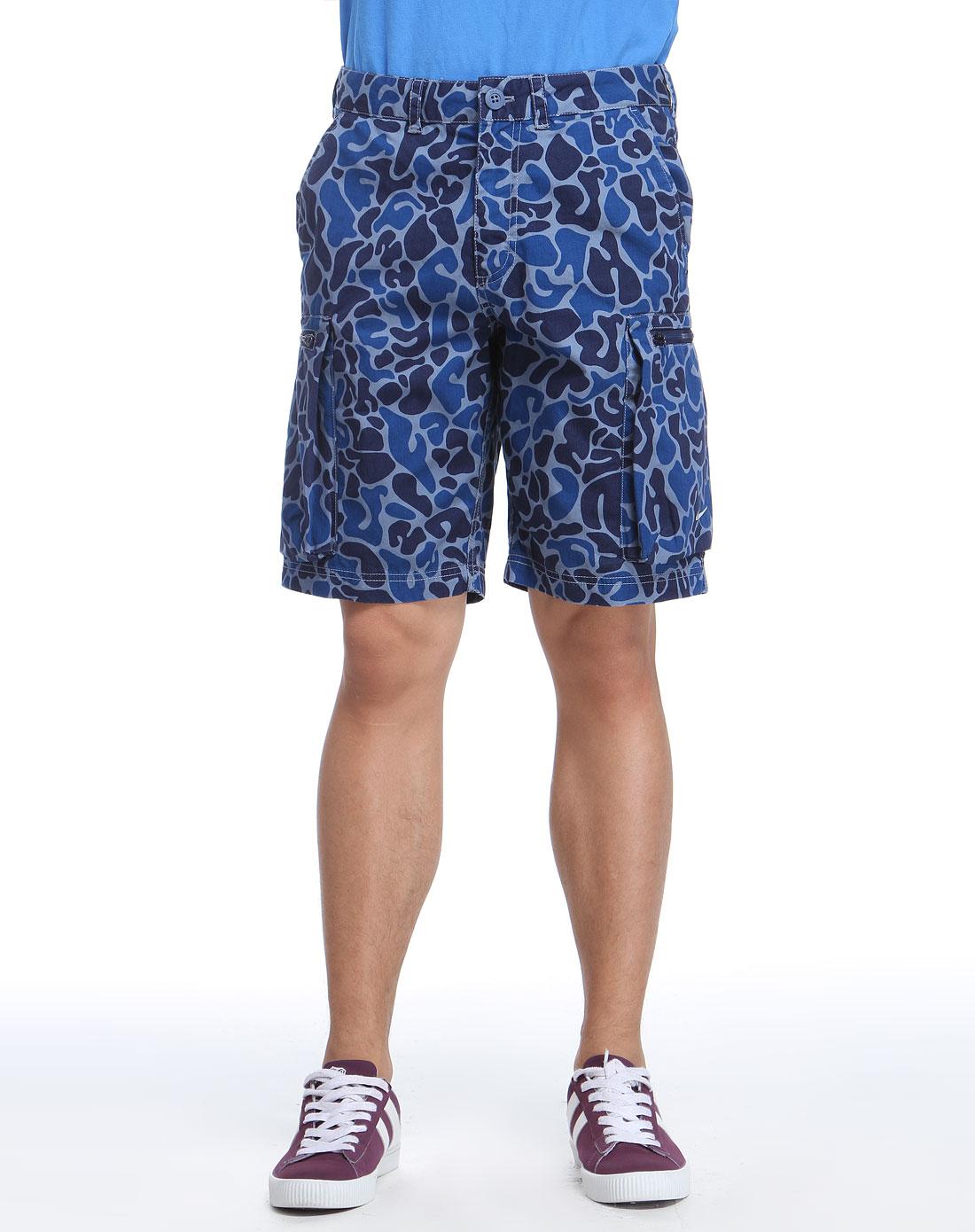 耐克nike男款蓝色迷彩短裤436567-411