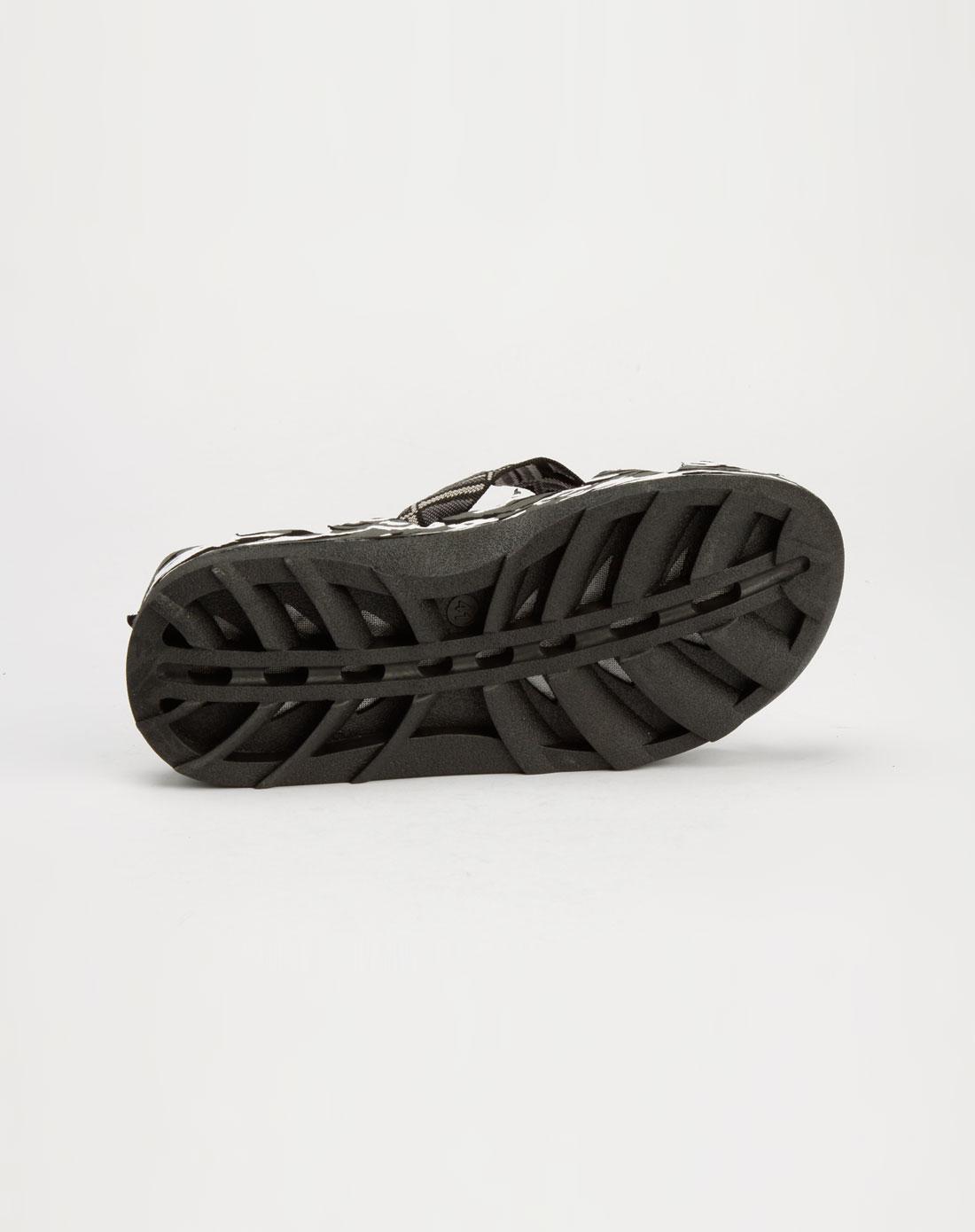 男款灰白色波浪夹脚拖鞋