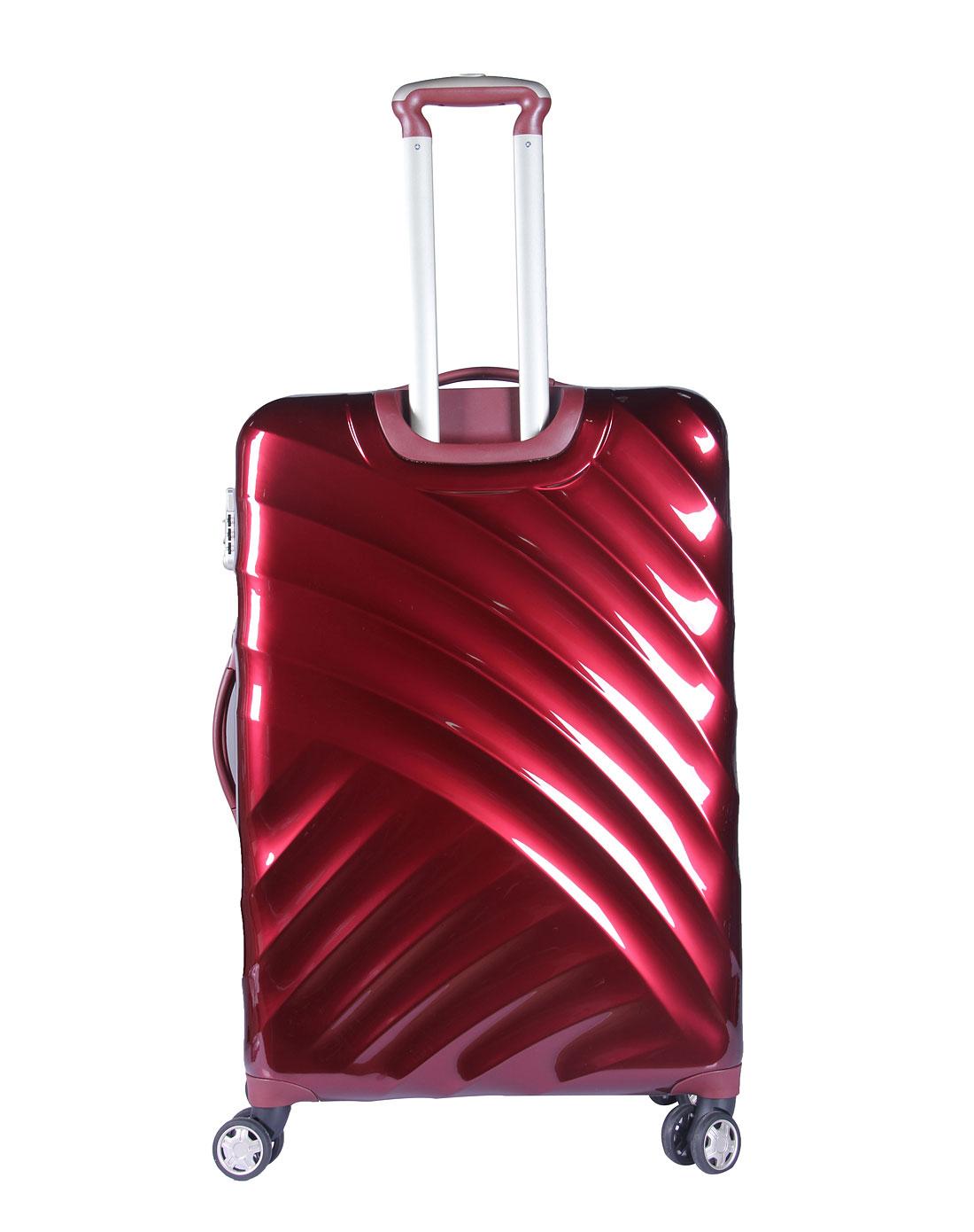 中性酒红28寸拉杆箱