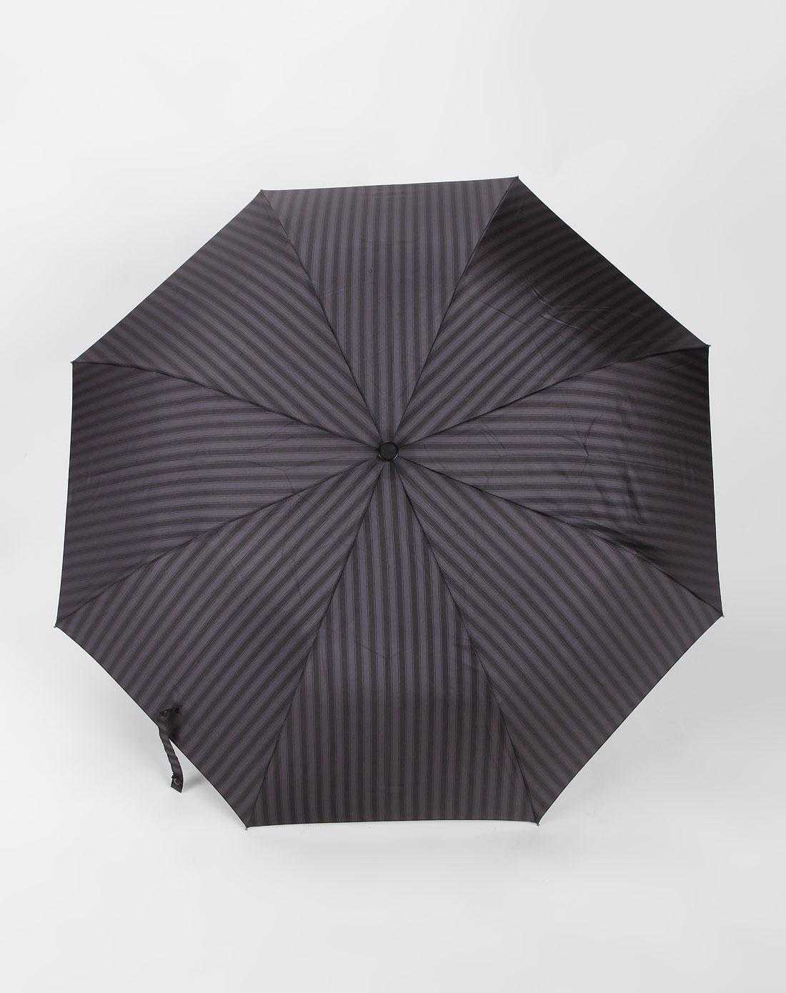灰色竖条纹防紫外线遮阳伞
