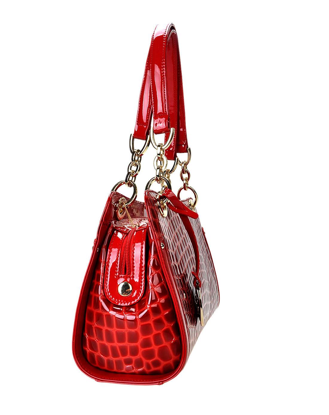 阿尔皮纳袋鼠女包女款红色手提包