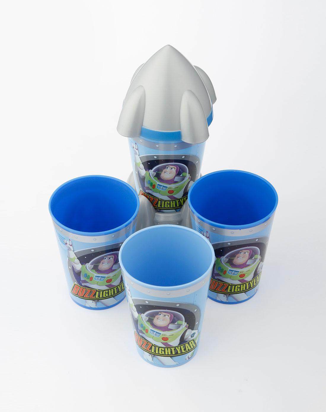 男童蓝色杯子四件套