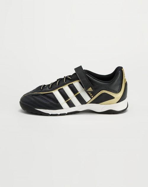adidas kids 男童黑 白色绑绳足球鞋 耐克,阿迪童装混合专场官网特价低折