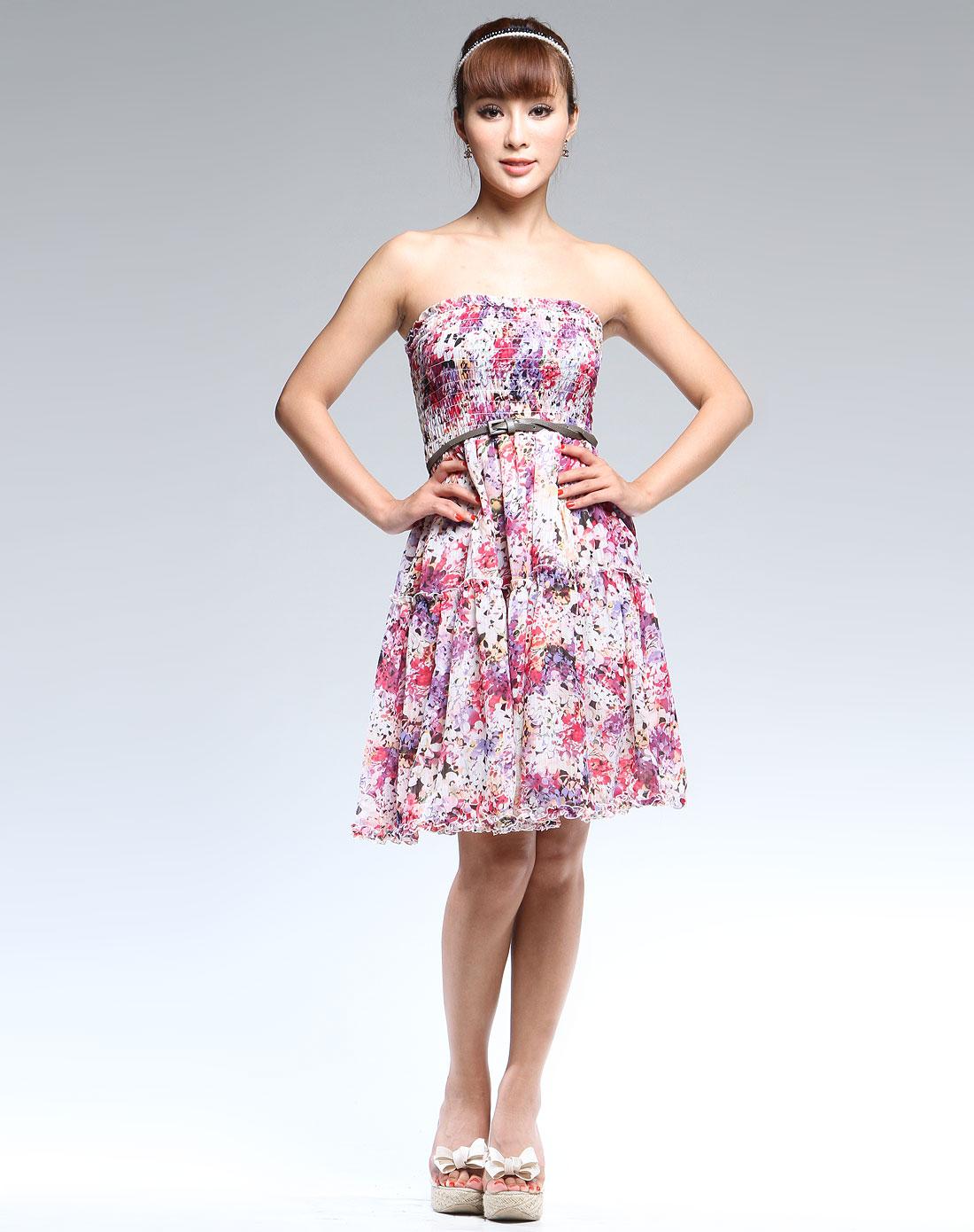 旗袍花型手绘图