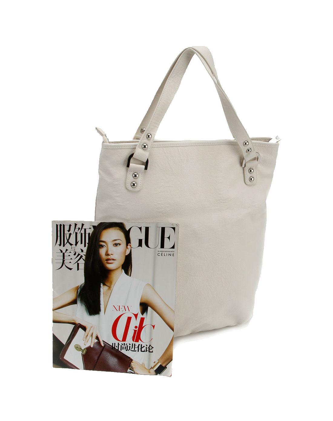 女款白色休闲手挎包