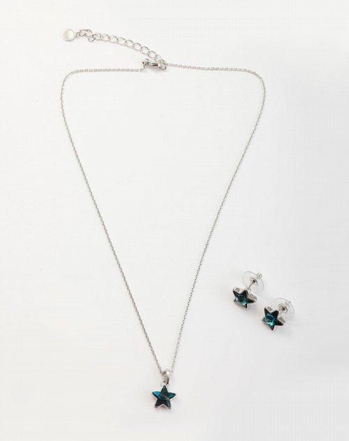 eco twins         商品名称:绿/银色时尚星星项链套装 精细的设计,创