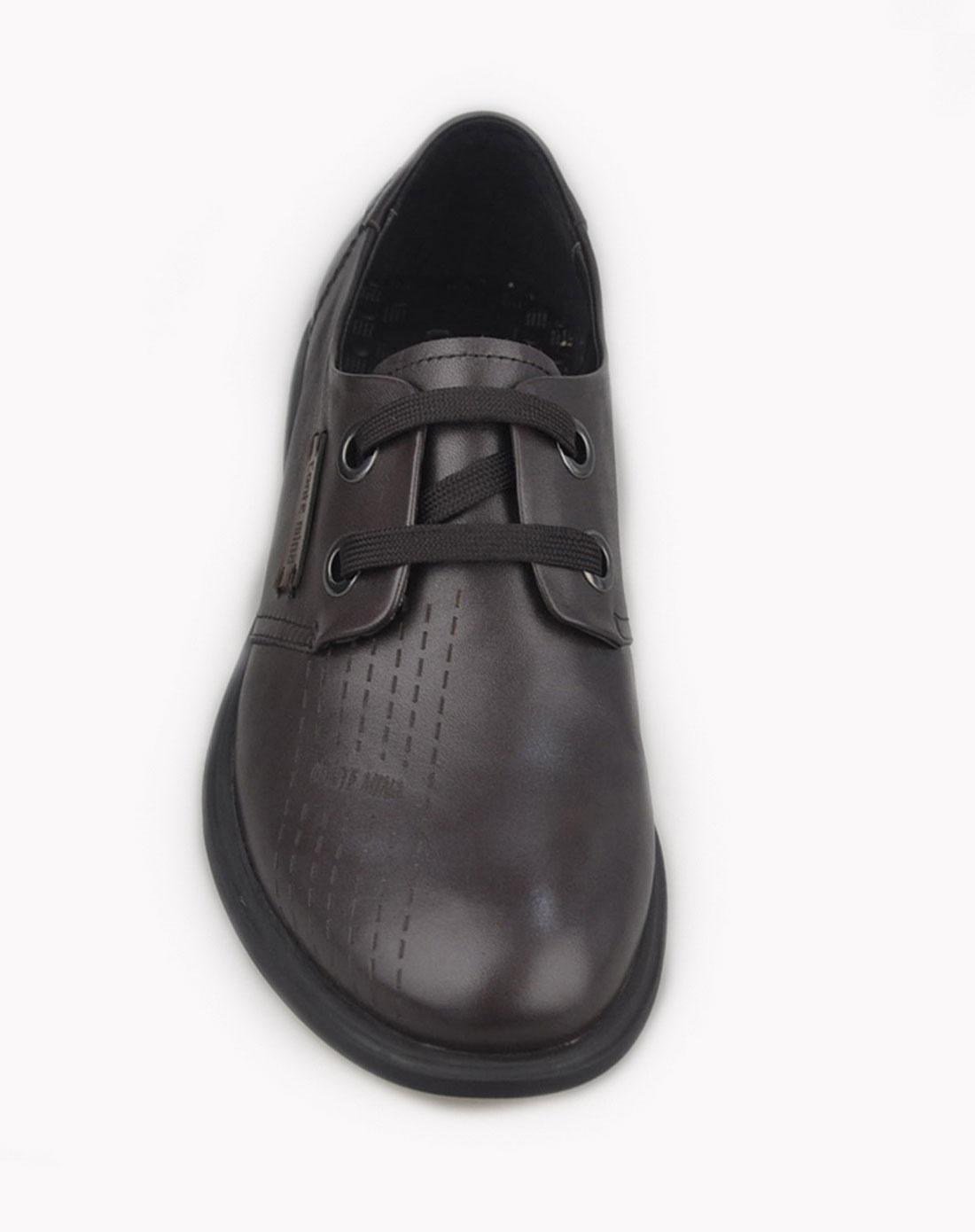 mina咖色男鞋