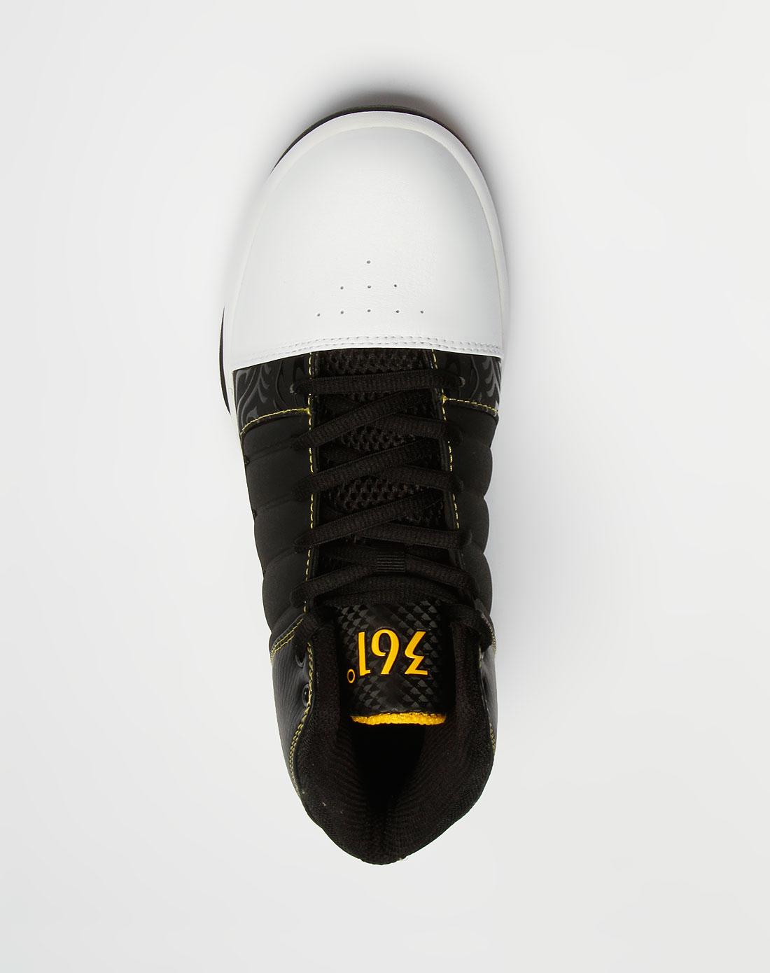 361°男款黑/白/黄色时尚篮球鞋