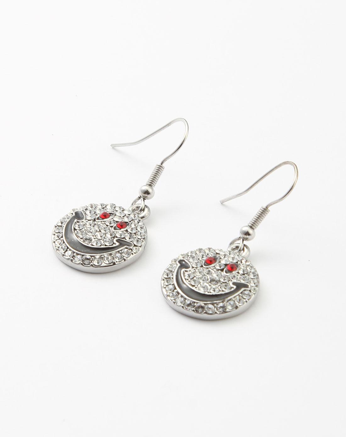 iruby饰品专场-银色心情物语可爱耳环