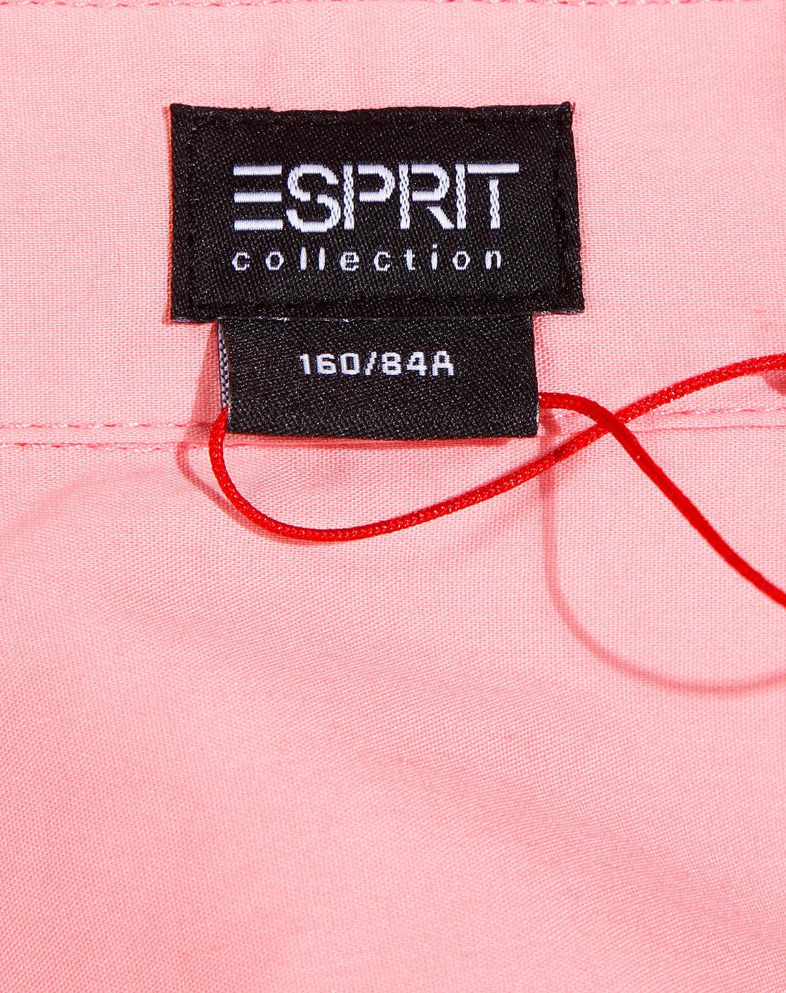 Esprit 女款粉红色翻领长袖衬衣 埃斯普利特Esprit官网特价2.5图片