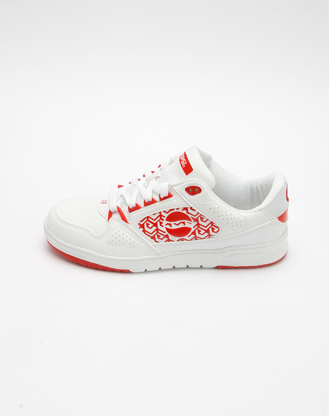 百事pepsi女款白/红色印图系带运动鞋