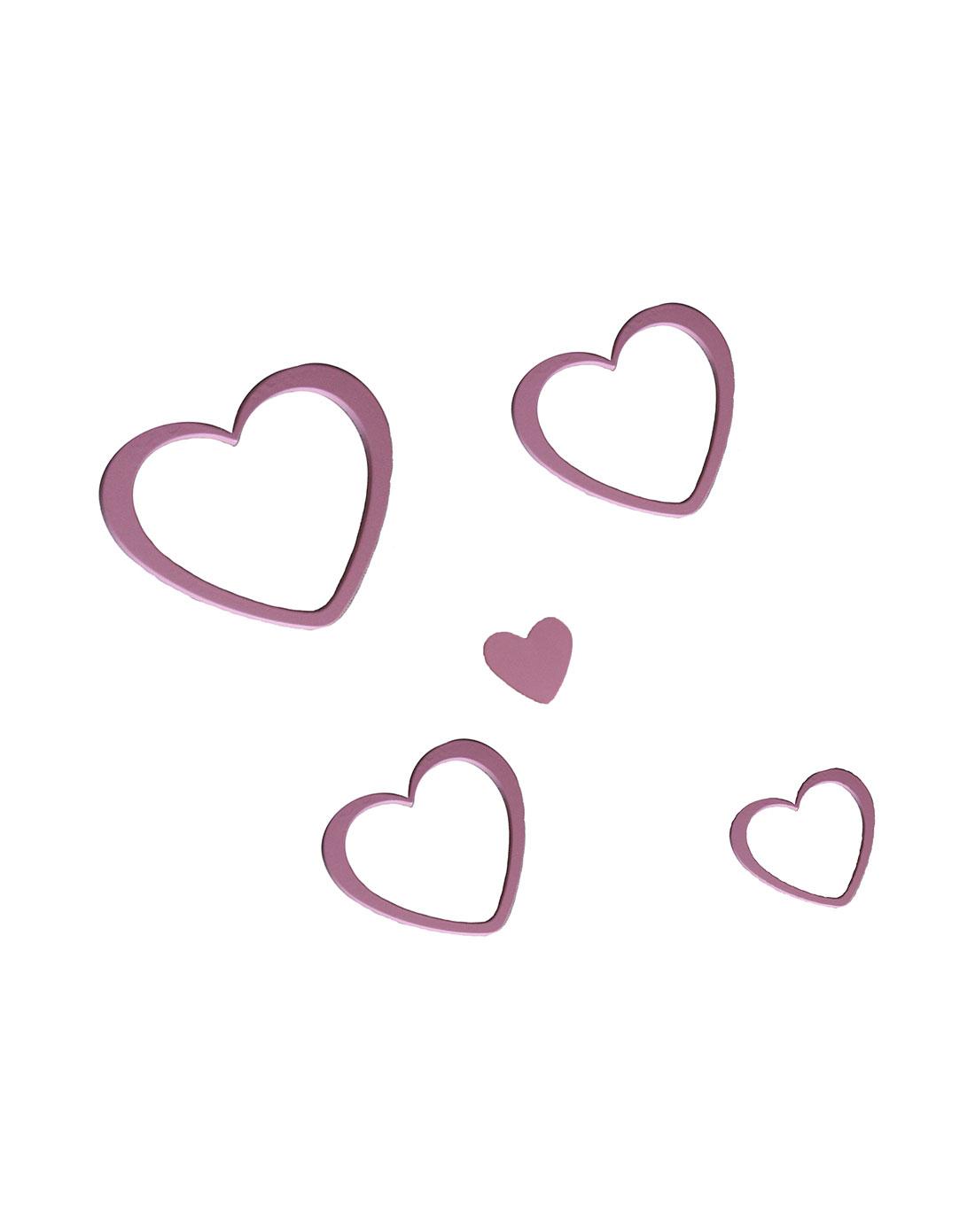 jm时尚家饰用品创意空间环保立体心形墙贴(粉色)jz