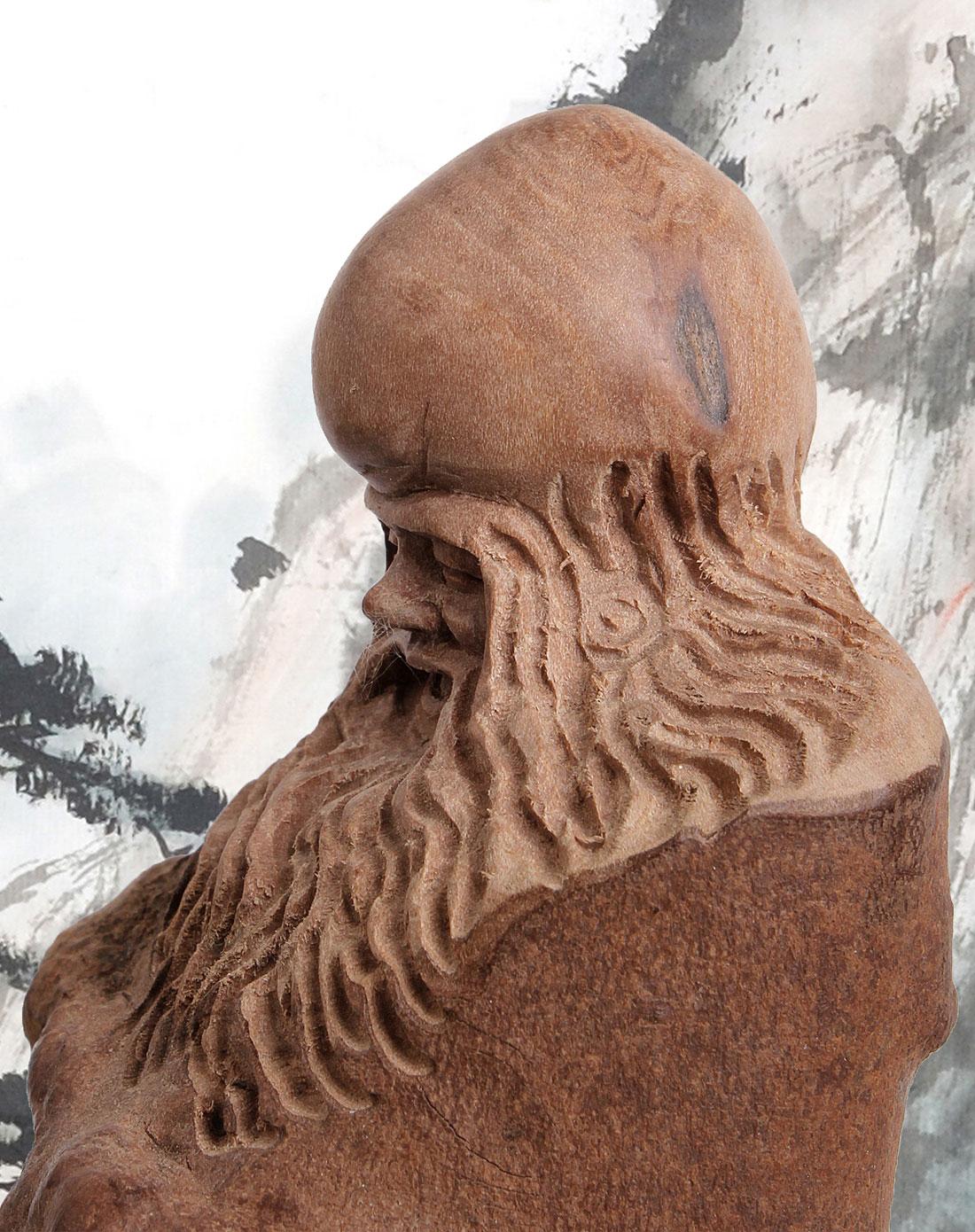 悦木之源天然茶树根雕长寿仙翁摆件04ym7q2c0006