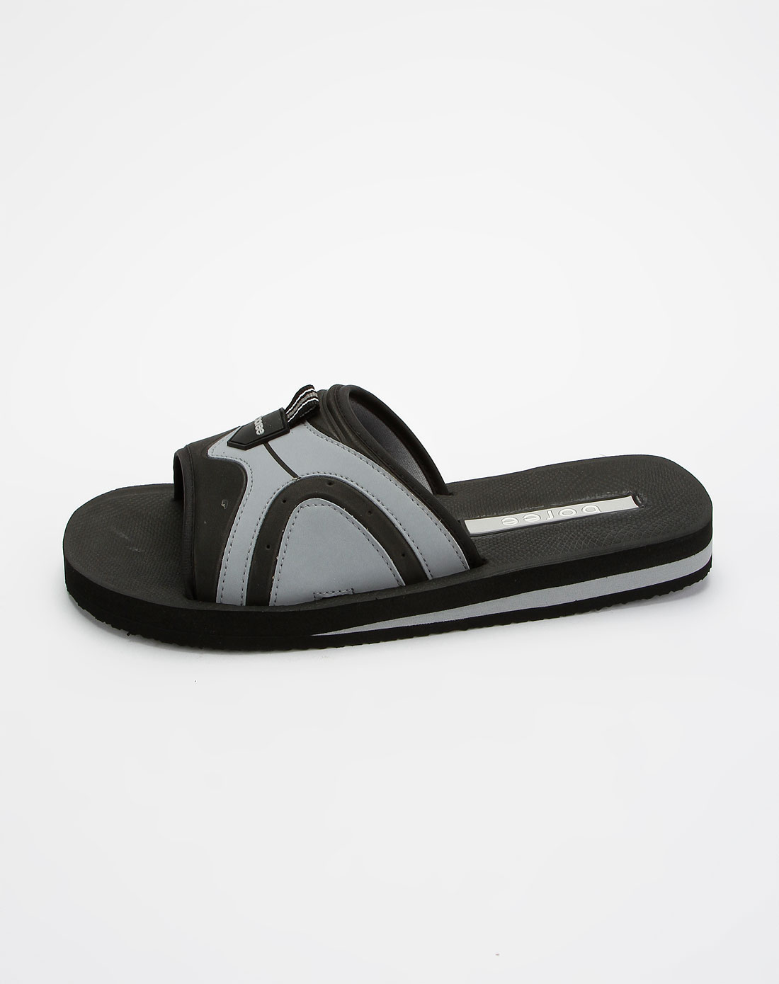 男款黑浅灰色休闲凉拖鞋
