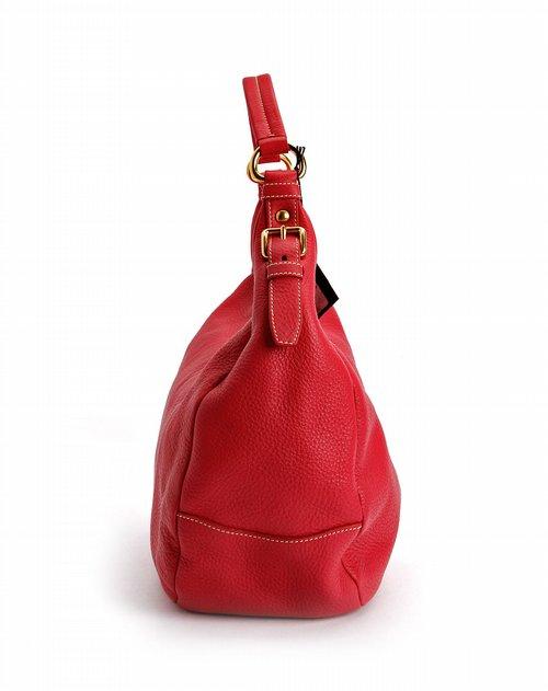 名品包包prada 女款玫红色时尚手提包