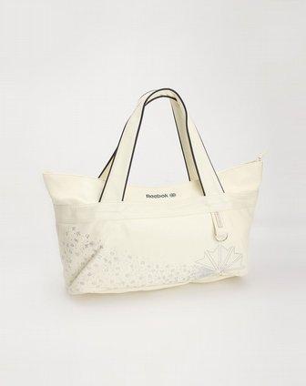 米白色印图单肩包 锐步Reebok 女装专场官网特价2.1折起图片