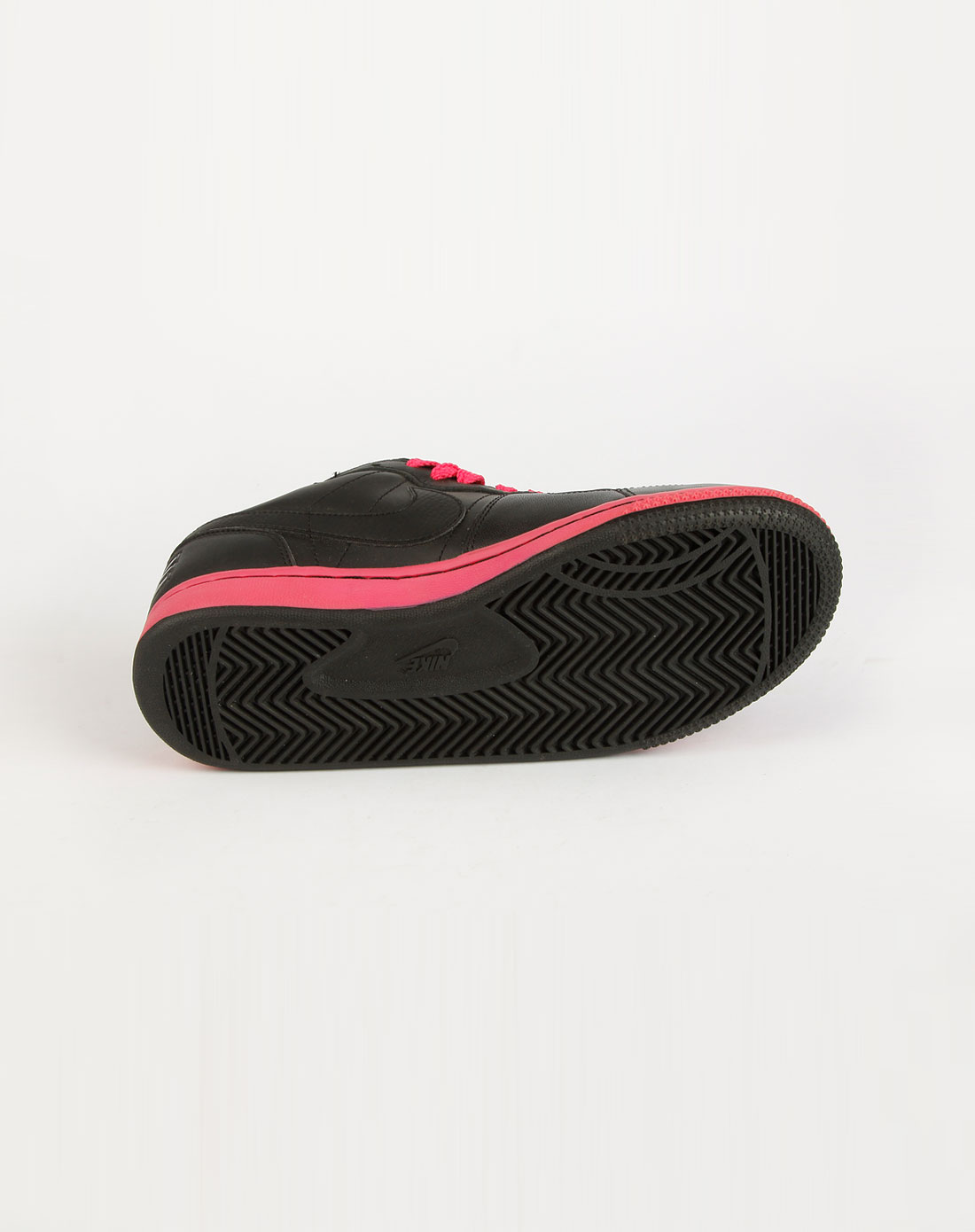 耐克nike女装专场-黑/玫红色网点运动鞋