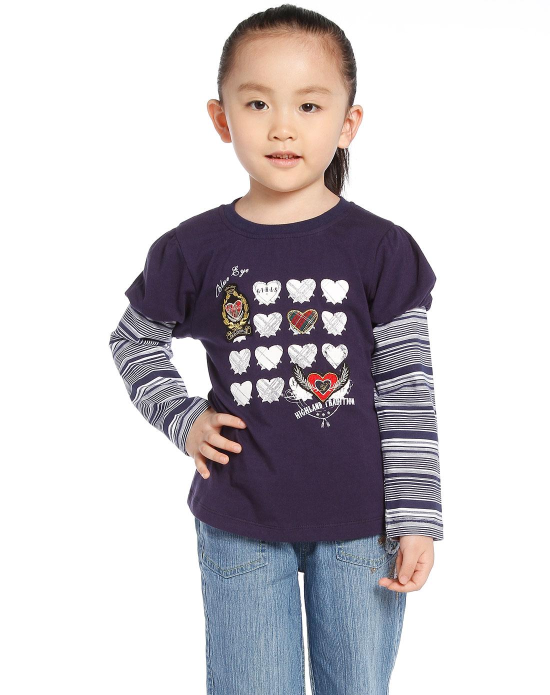 女童紫色长袖t恤_蓝眼精灵官网特价1.9折起