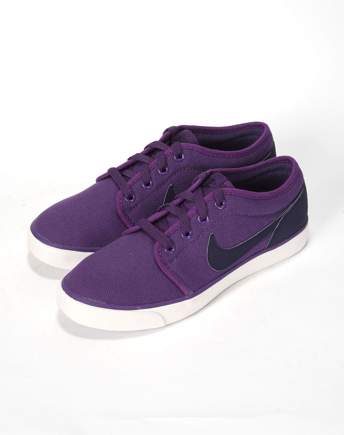 耐克nike女款紫/白复古鞋