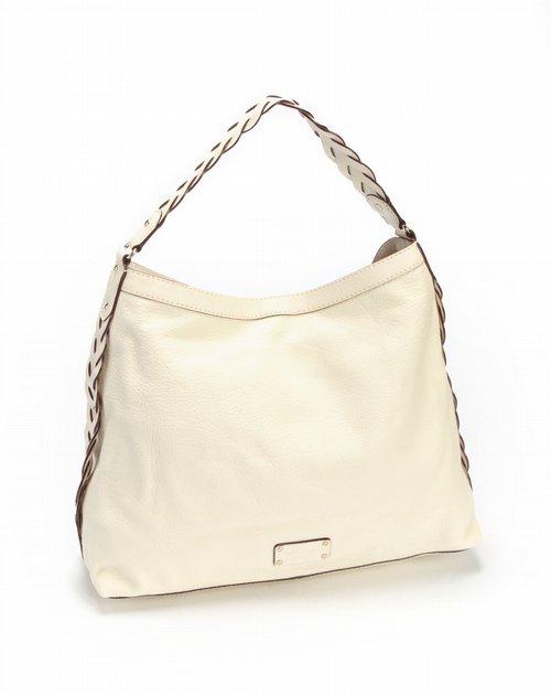DE米白色休闲单肩包 包包专场特价4折起图片