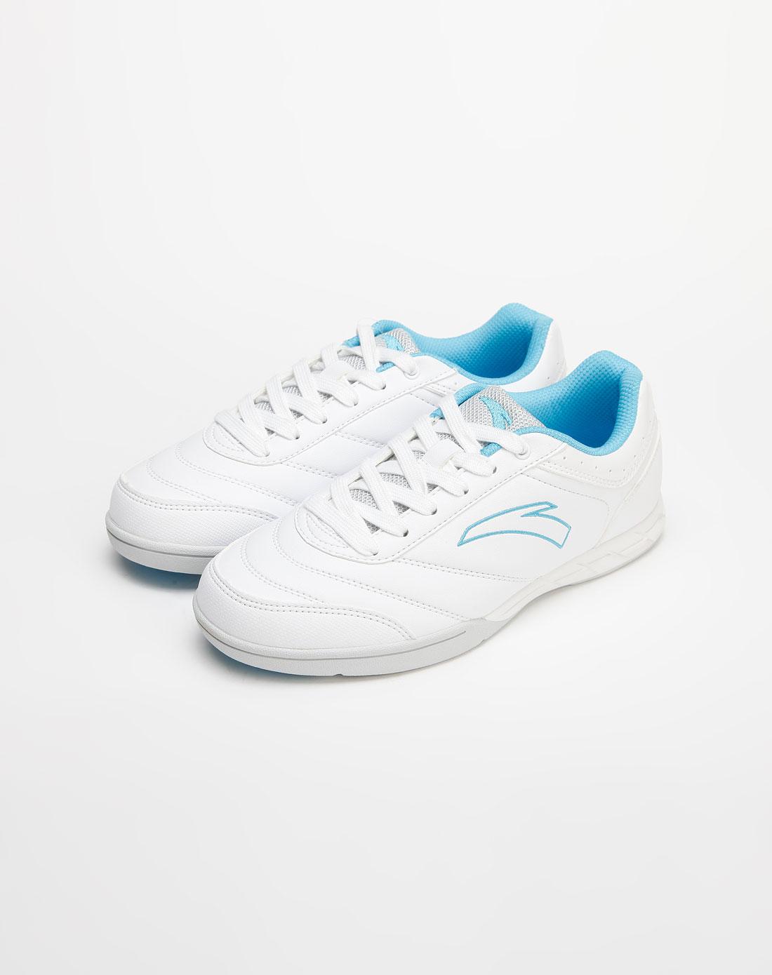 安踏anta女款白色个性足球鞋