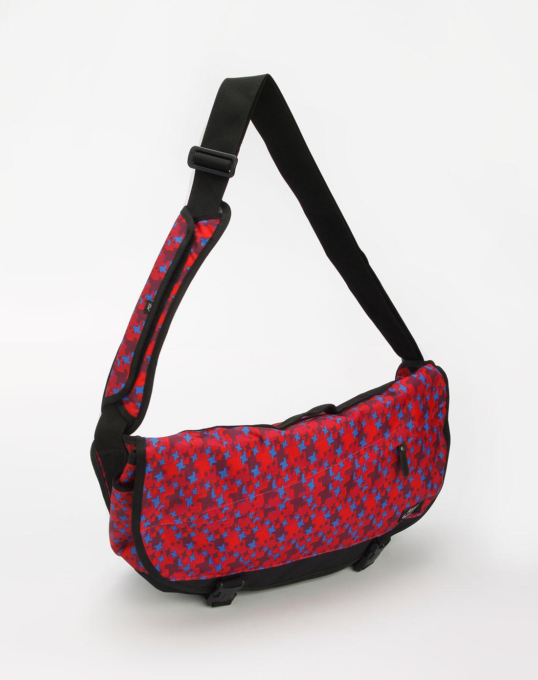耐克nike-女款玫红/蓝色印图大斜挎包