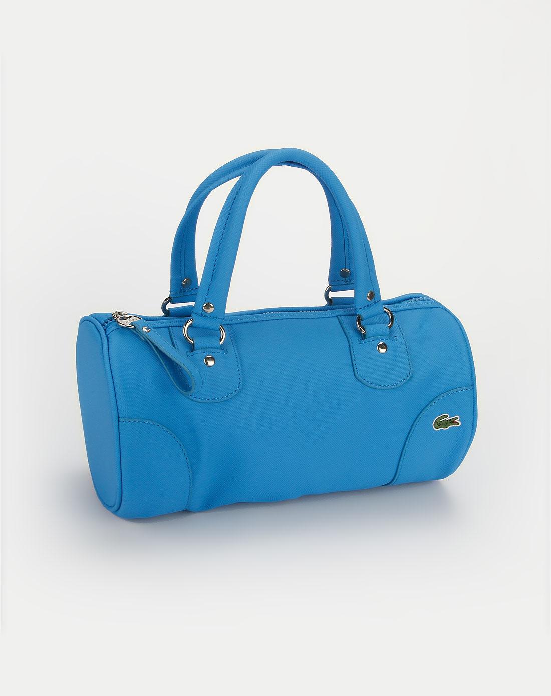 法国鳄鱼包包lacoste蓝色休闲手提包