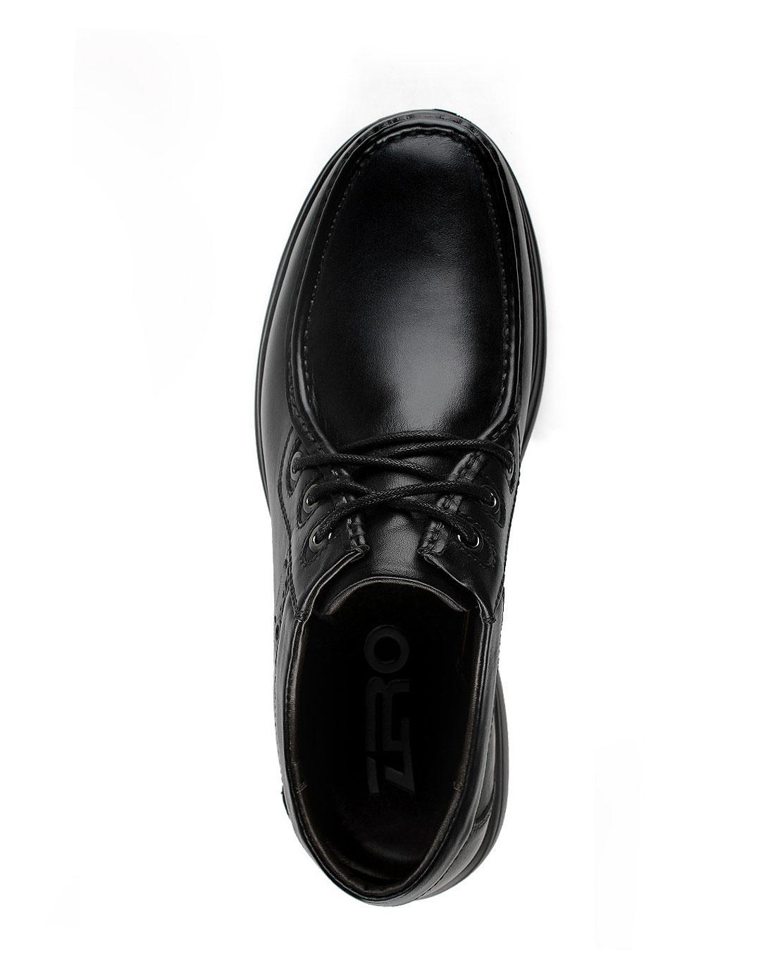 零度zero男式黑色皮鞋