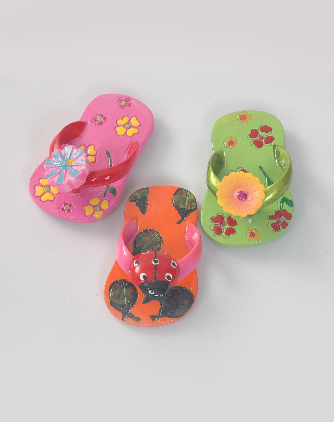 jm创意冰箱贴(拖鞋)3件装(五彩)