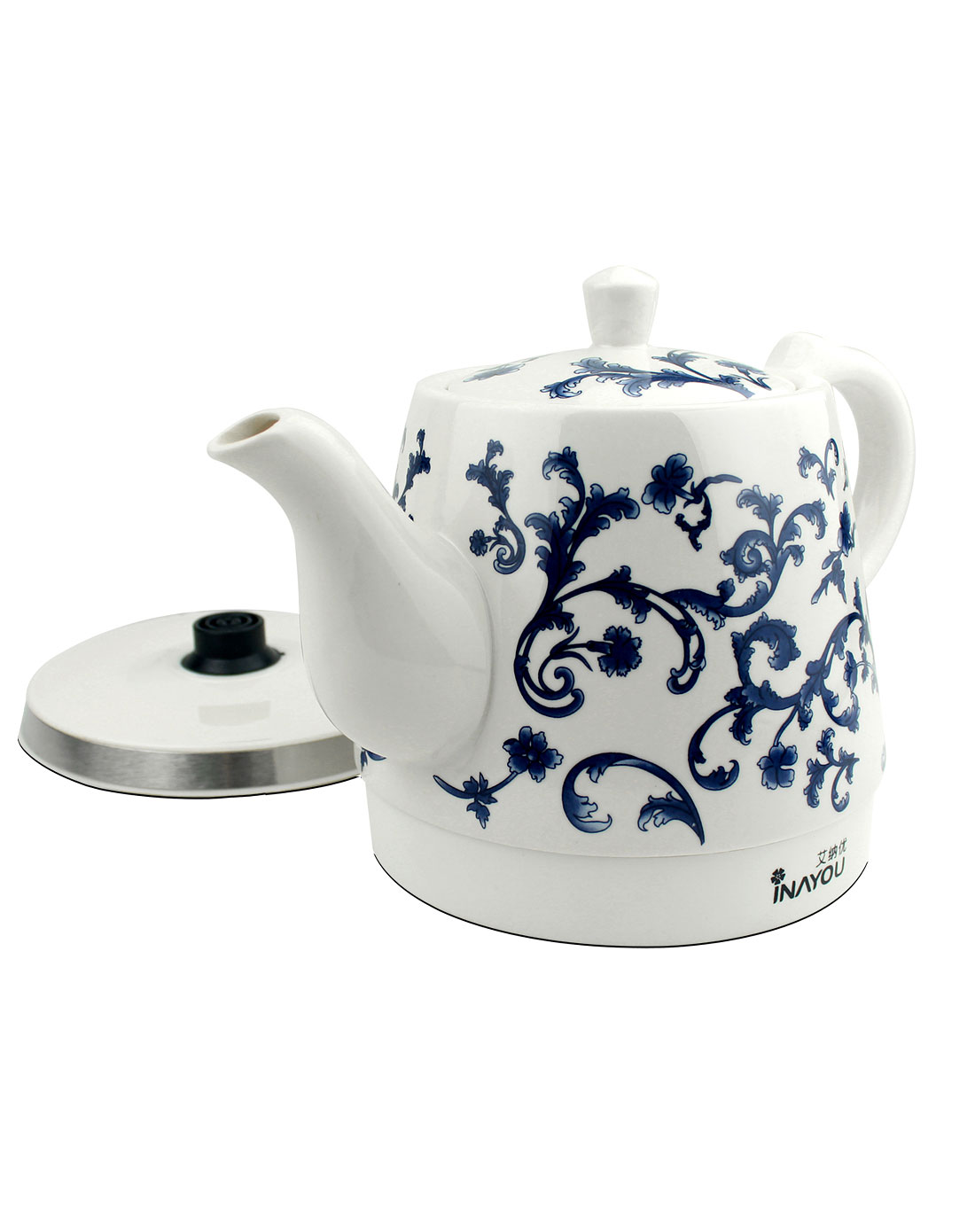 青花陶瓷电热水壶