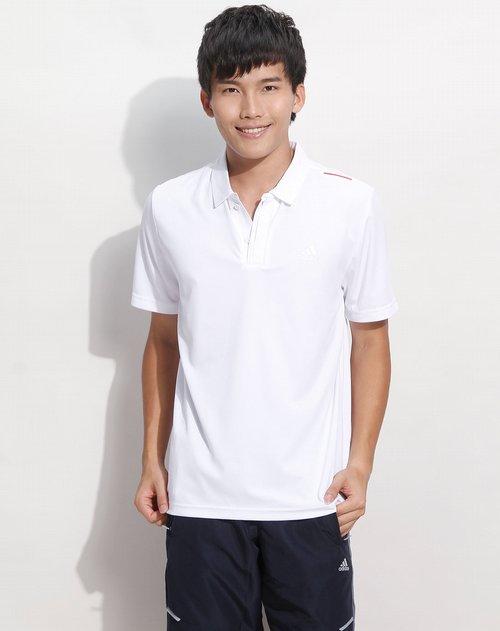 阿迪达斯adidas-男装专场白色简约短袖polo衫图片