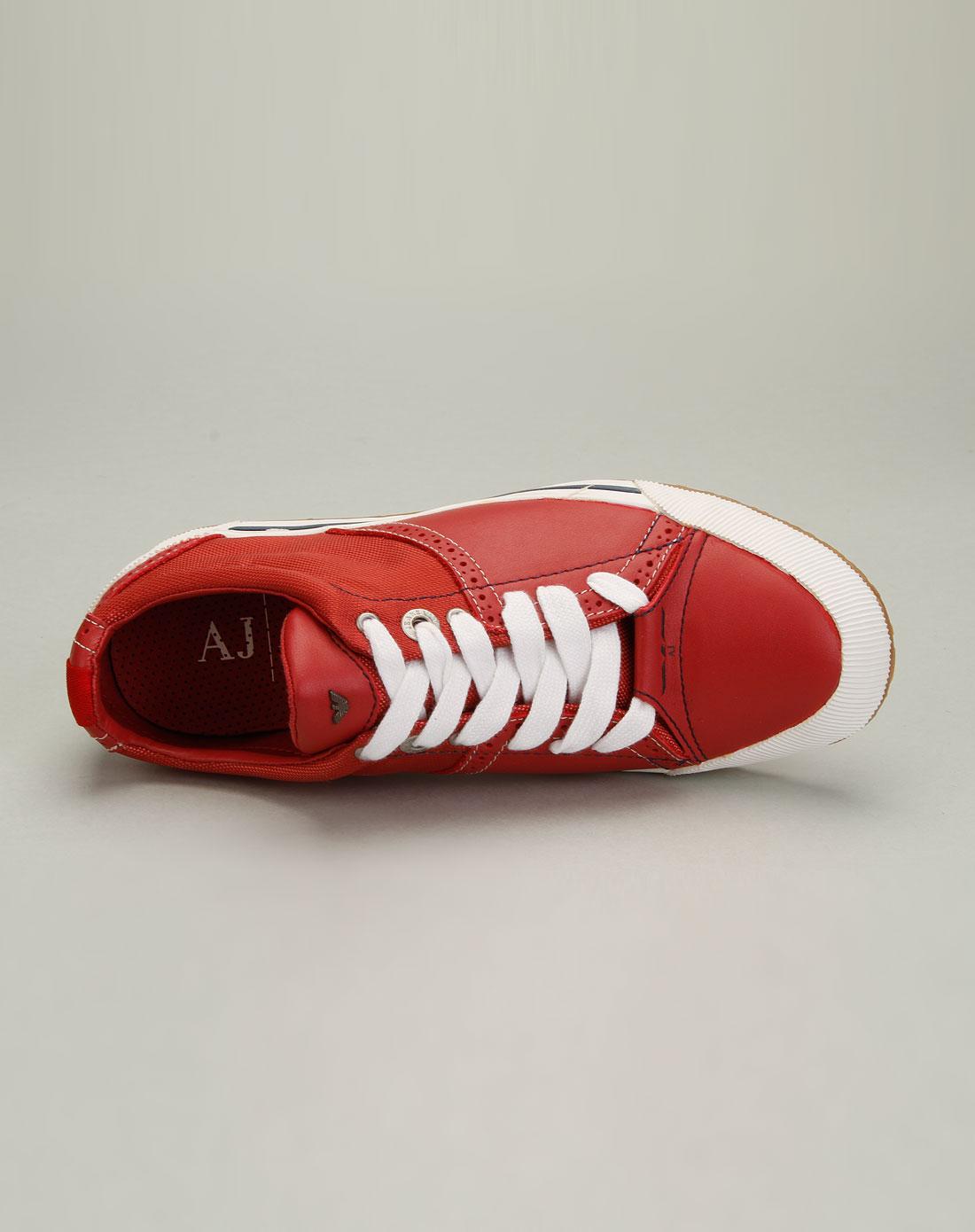 armani鞋子专场aj 男款经典百搭舒适拼料休闲鞋红色