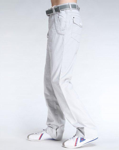 森马男装专场浅灰色休闲长裤图片