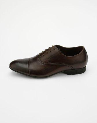 皇冠crown男款咖色时尚皮鞋12150015