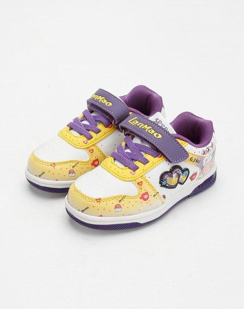 蓝猫lanmao男女童鞋女童白/黄色时尚运动鞋