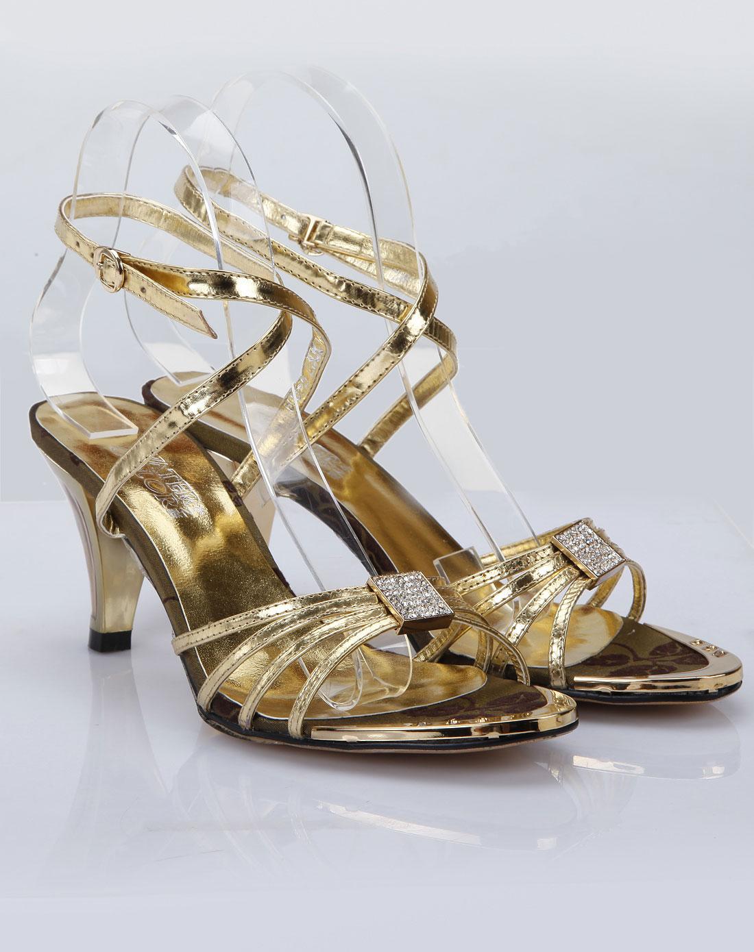 color金色时尚凉鞋603-51101