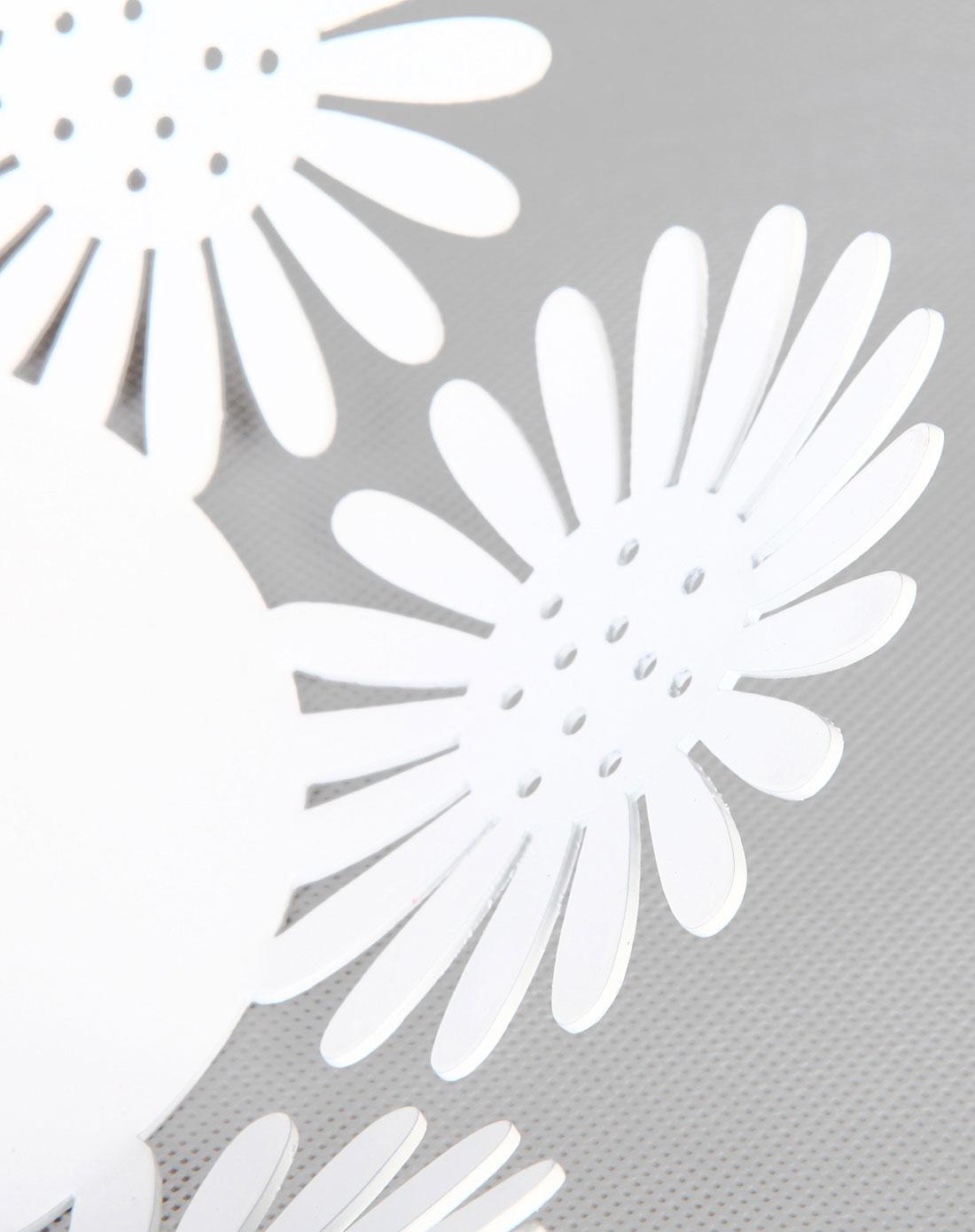 镂空太阳花铁艺果盘-白色