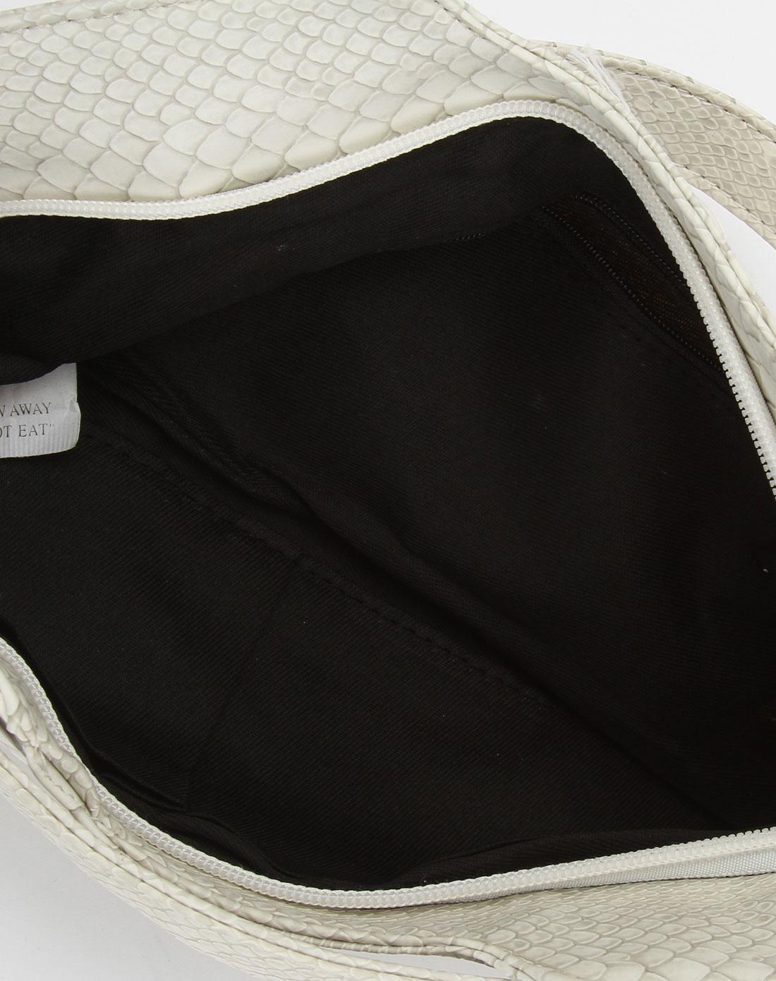 注释annotate灰白色时尚蛇纹手提包am1509-p002c